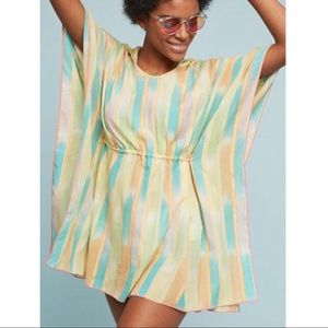 Lilka Anthropologie Pastel Striped Poncho Cover Up